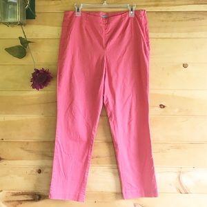 J. Jill Stretch Crop Pants Side Zip size 10